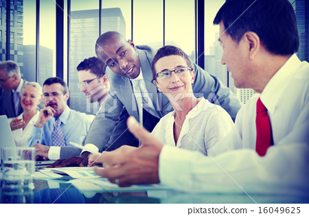 Stock Photo: Business People Corporate Communication Meeting Concept