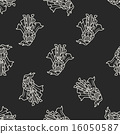 knight doodle seamless pattern background 16050587
