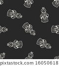 queen doodle seamless pattern background 16050618