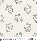 shield doodle seamless pattern background 16050817
