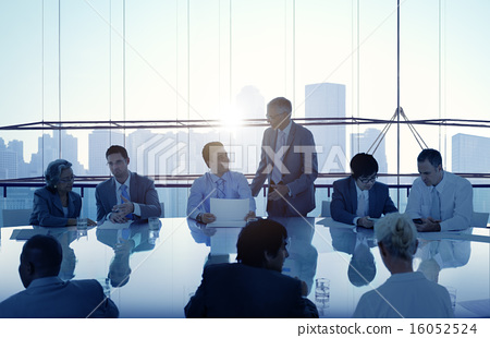 Stock Photo: Business People Meeting Cityscape Team Concept