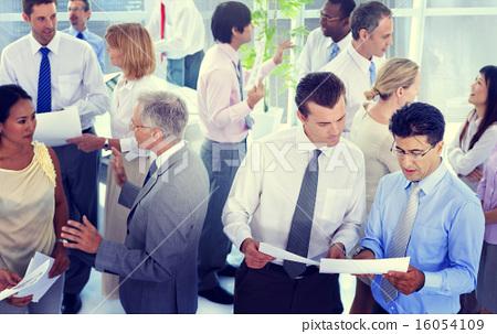 Stock Photo: Business People Conversation Communication Talking Team Concept