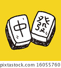 Chinese New Year; Chinese mahjong doodle 16055760