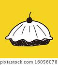 pie food doodle 16056078