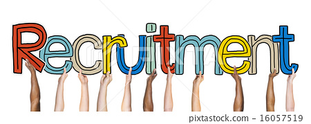 Group of Diverse People's Hands Holding Recruitment 16057519