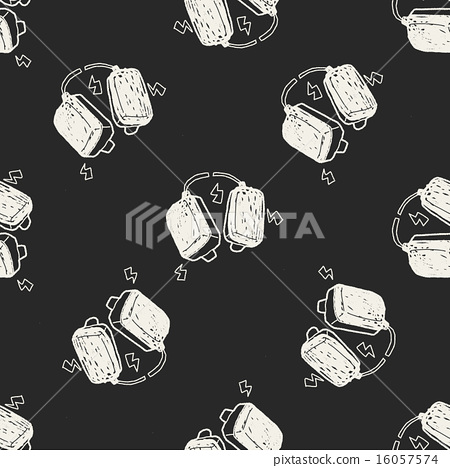 aed doodle seamless pattern background 16057574