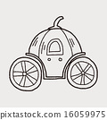 Pumpkin carriage doodle 16059975