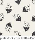 seamless, doodle, mask 16062452