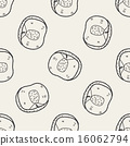 vector, seamless, doodle 16062794
