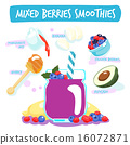 mixed berries delicious healthy smoothies vector 16072871
