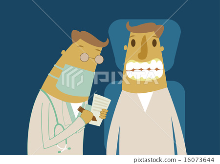 Patient with dentist in a dental treatment 16073644