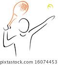 Tennis serve 16074453