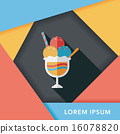 ice cream flat icon with long shadow,eps10 16078820