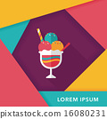 ice cream flat icon with long shadow,eps10 16080231