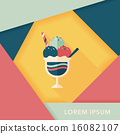 ice cream flat icon with long shadow,eps10 16082107