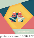 wedding bell flat icon with long shadow,eps10 16082127