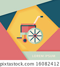 輪椅 影子 單調 16082412