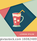 iced drink flat icon with long shadow,eps10 16082489