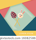 easter lollipop flat icon with long shadow,eps10 16082586