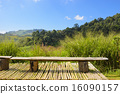Bench on the mountain 16090157