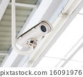 Close up of a security camera outside 16091976
