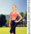 beautiful athletic woman in sportswear 16097183