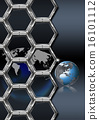 Business hexagon background 16101112