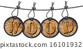 Written Wood Circular Tags 16101932