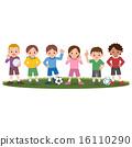 벡터, 축구, 아이 16110290