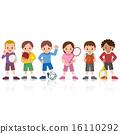 Children playing sports 16110292