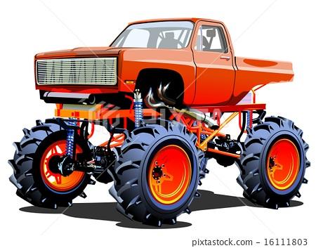 Cartoon Monster Truck Stock Illustration 16111803 Pixta