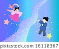 은하수와 직녀와 견우 배경 수 16118367