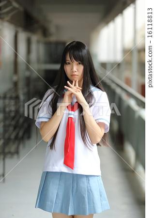 Asian school girl - Stock Photo [16118813] - PIXTA