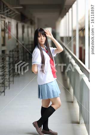 Asian school girl 16118897