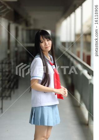Asian school girl - Stock Photo [16118906] - PIXTA