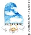 เปียโนสีฟ้าและบันทึก 16120814