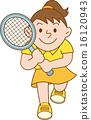 테니스 여자 일러스트 16120943