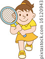 tennis, vector, vectors 16120943