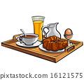 果汁 托盤 早餐 16121575