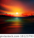 abstract background with silhouette of New York 16123793