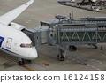 登机桥 客用飞机 飞机 16124158
