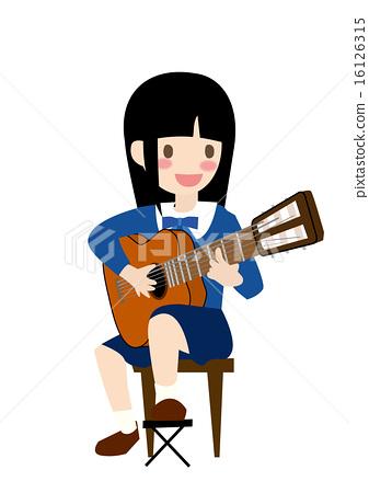 Guitarist illustration 16126315