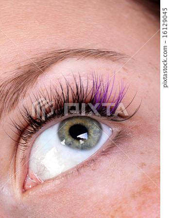 Decoration false eyelashes, macro 16129045
