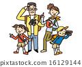 กลางแจ้ง,ปีนผา,ครอบครัว 16129144