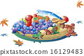 秋之美食 矢量 松茸蘑菇 16129483