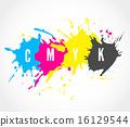 CMYK ink splashes logo 16129544