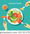 healthy food concept flat design 16132370