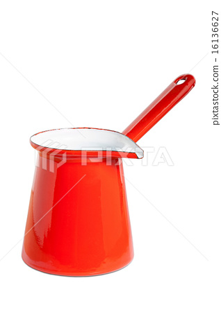 Casserole with handle made of enamel 16136627