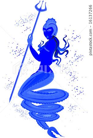Gold Mermaid Trident – Trashy.com