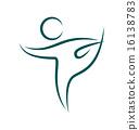emblem, yoga, pose 16138783